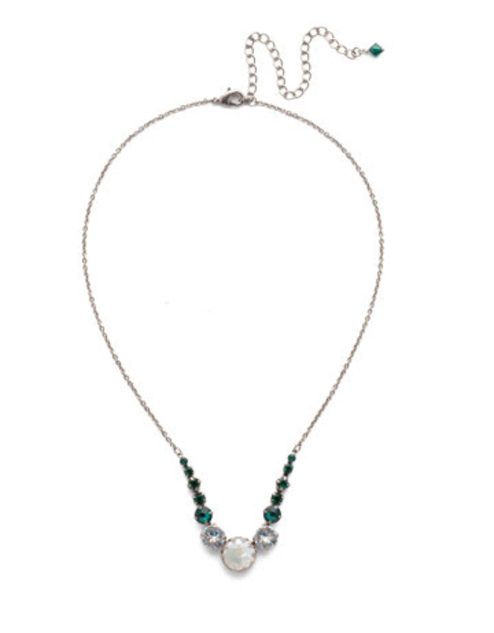 Sorrelli NEF43ASSNM - Snowy Moss Meera Classic Necklace