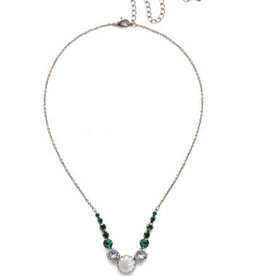 Sorrelli NEF43ASSNM - Snowy Moss Meera Classic Necklace