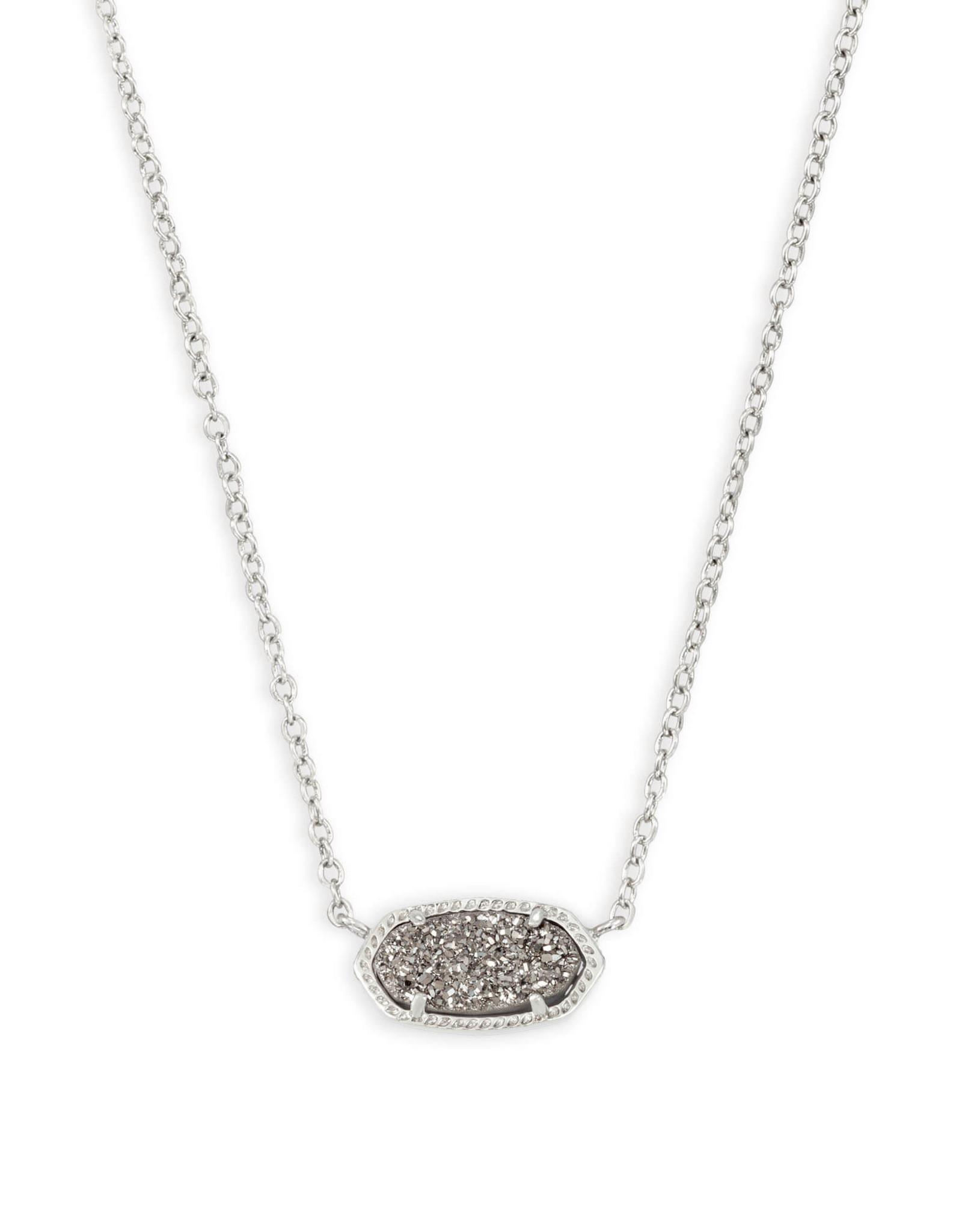 Kendra Scott Elisa Necklace - Platinum Drusy/Rhodium