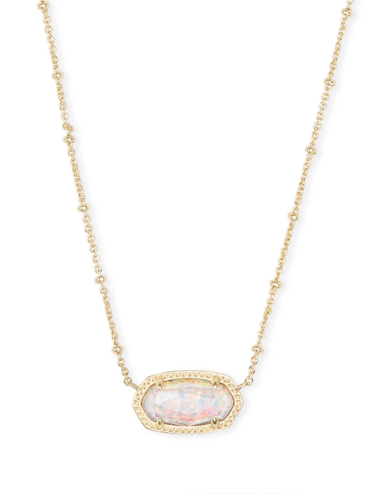 Kendra Scott Elisa Satellite Short Necklace - White Opal/Gold