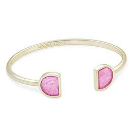 Kendra Scott Luna Cuff Bracelet - Lt Pink Azalea Illusion/Gold