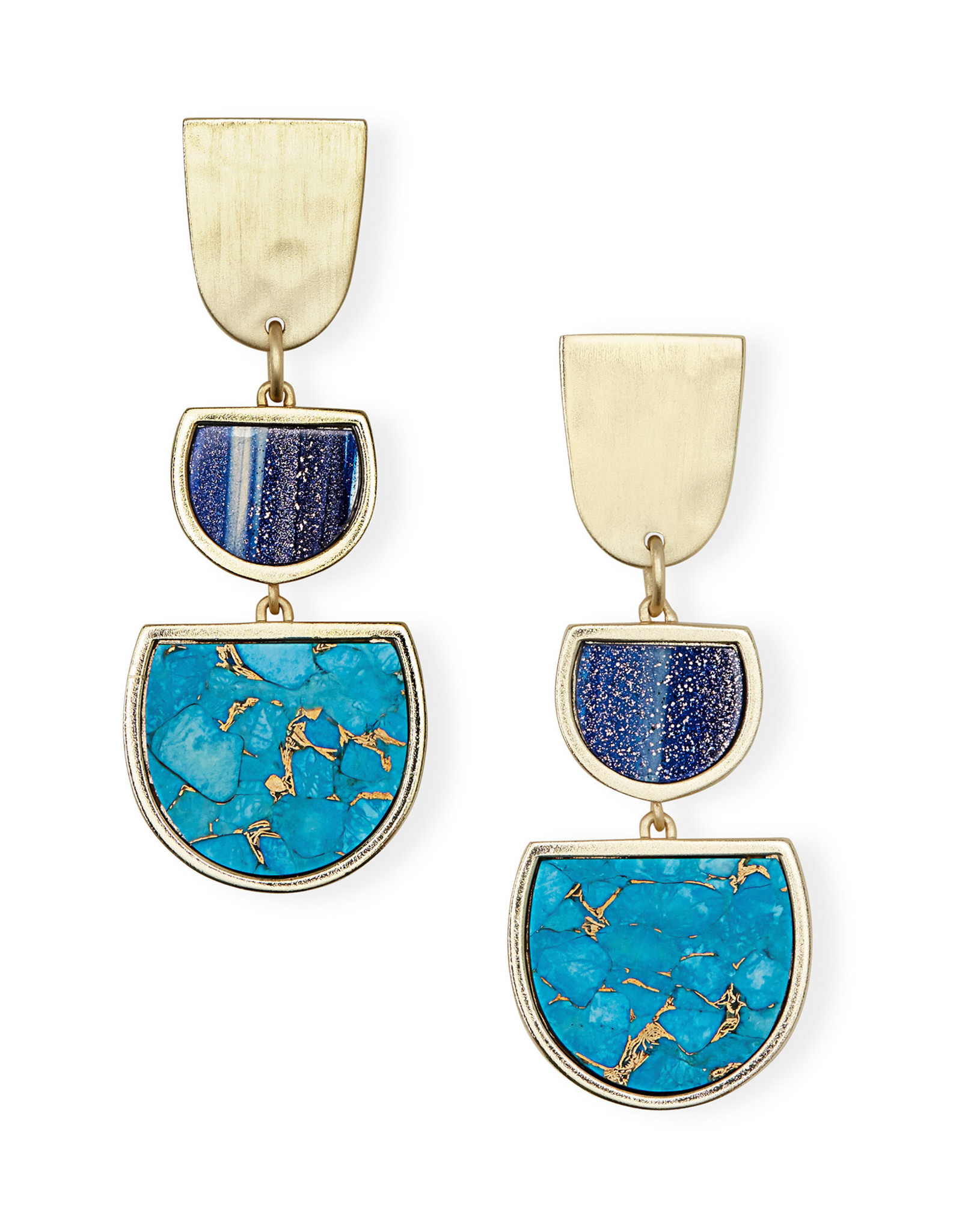 Kendra Scott Luna Drop Earring - Blue Mix/Gold