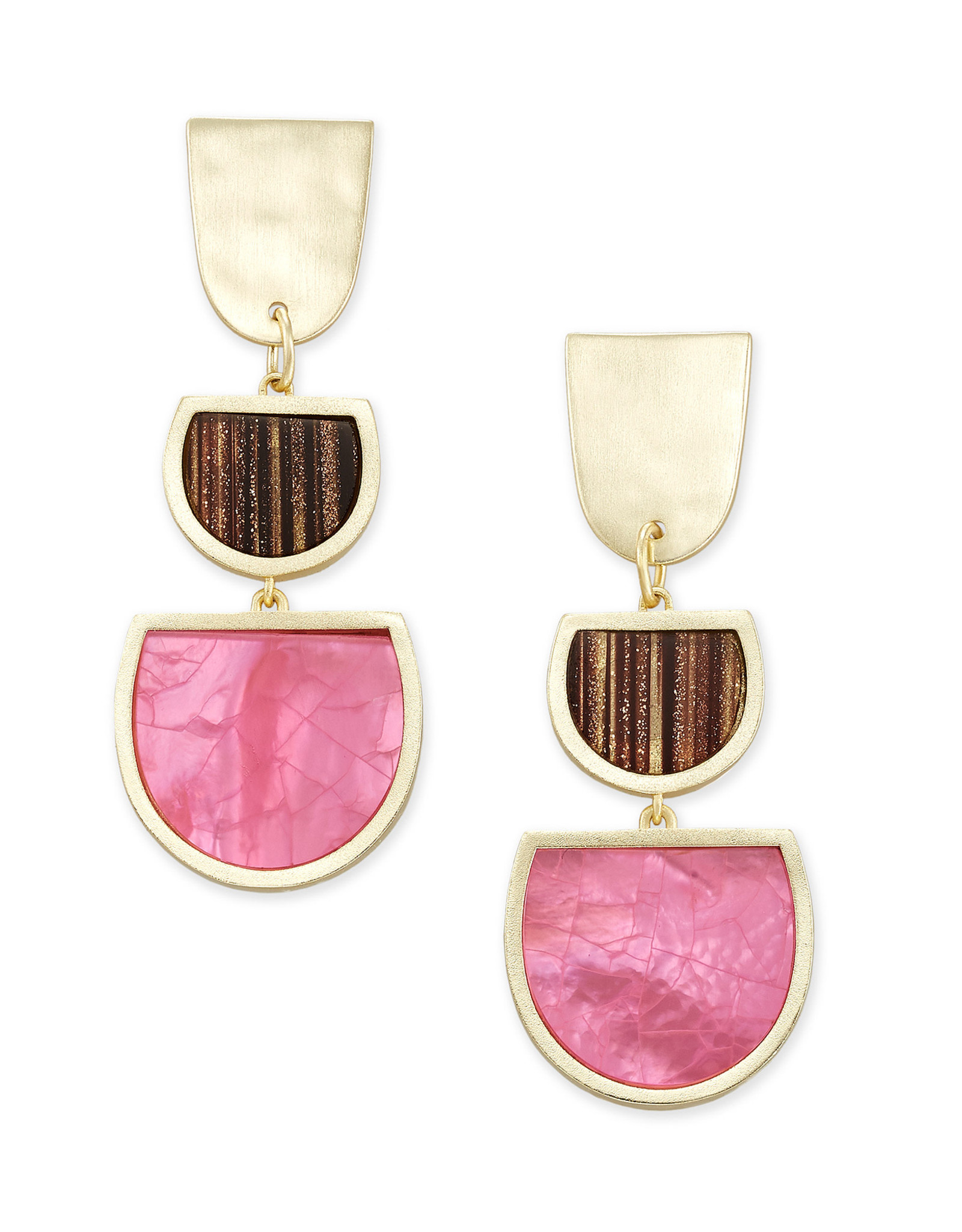 Kendra Scott Luna Drop Earring - Pink Mix/Gold