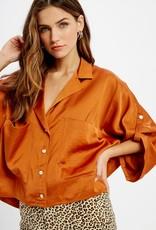 Ladies' Fashions WL19-3088 - Satin Crop Top