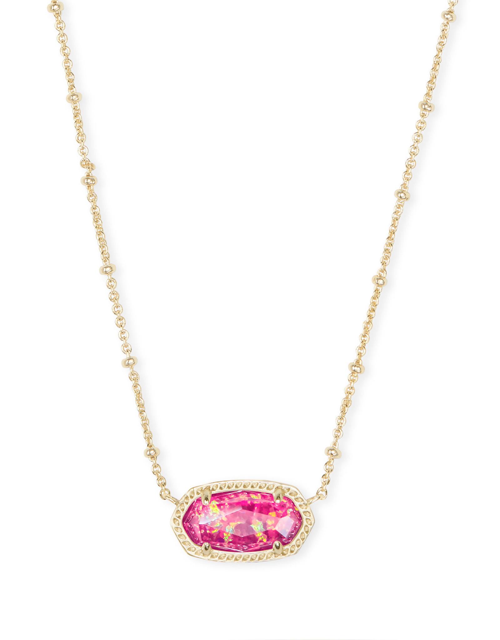 Kendra Scott Elisa Satellite Short Necklace - Berry Opal/Gold