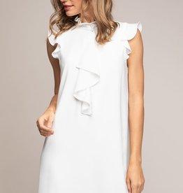 Ladies' Fashions Cascade Ruffle Mock Neck Dress