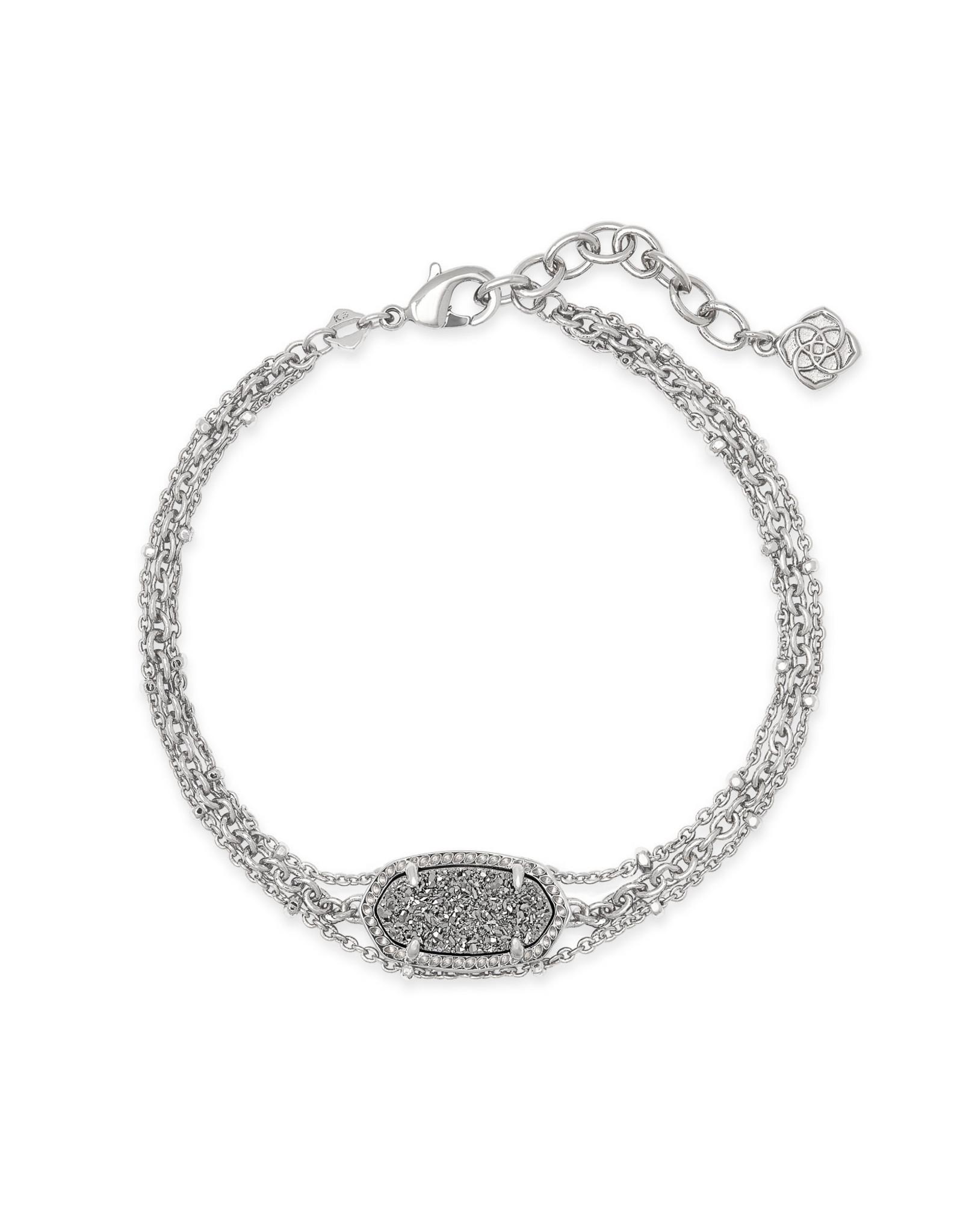 Kendra Scott Elaina Multi Strand Bracelet - Platinum Drusy/Rhodium