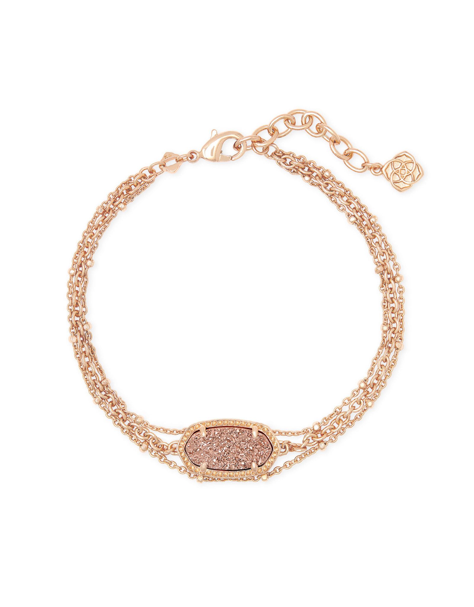 Kendra Scott Elaina Multi Strand Bracelet - Rose Gold Drusy/Rose Gold