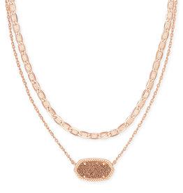 Kendra Scott Elisa Multi Strand Necklace - Rose Gold Drusy/Rose Gold