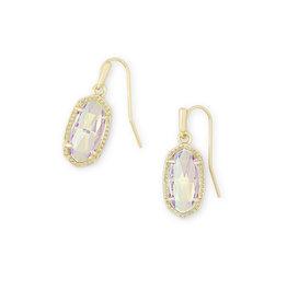 Kendra Scott Lee Earring - Dichroic Glass/Gold