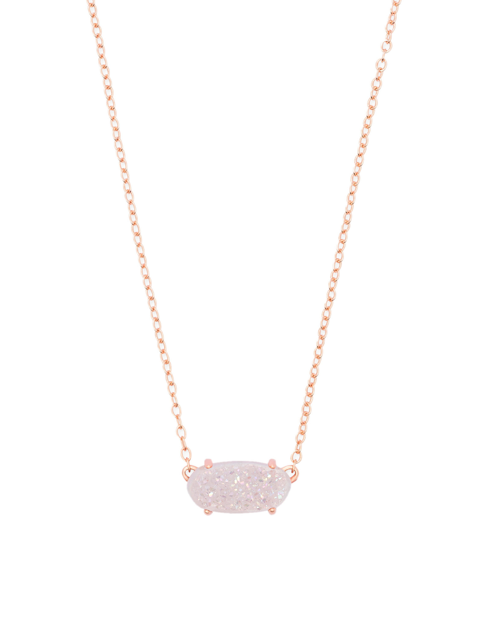 Kendra Scott Ever Necklace - Iridescent Drusy/Rose Gold