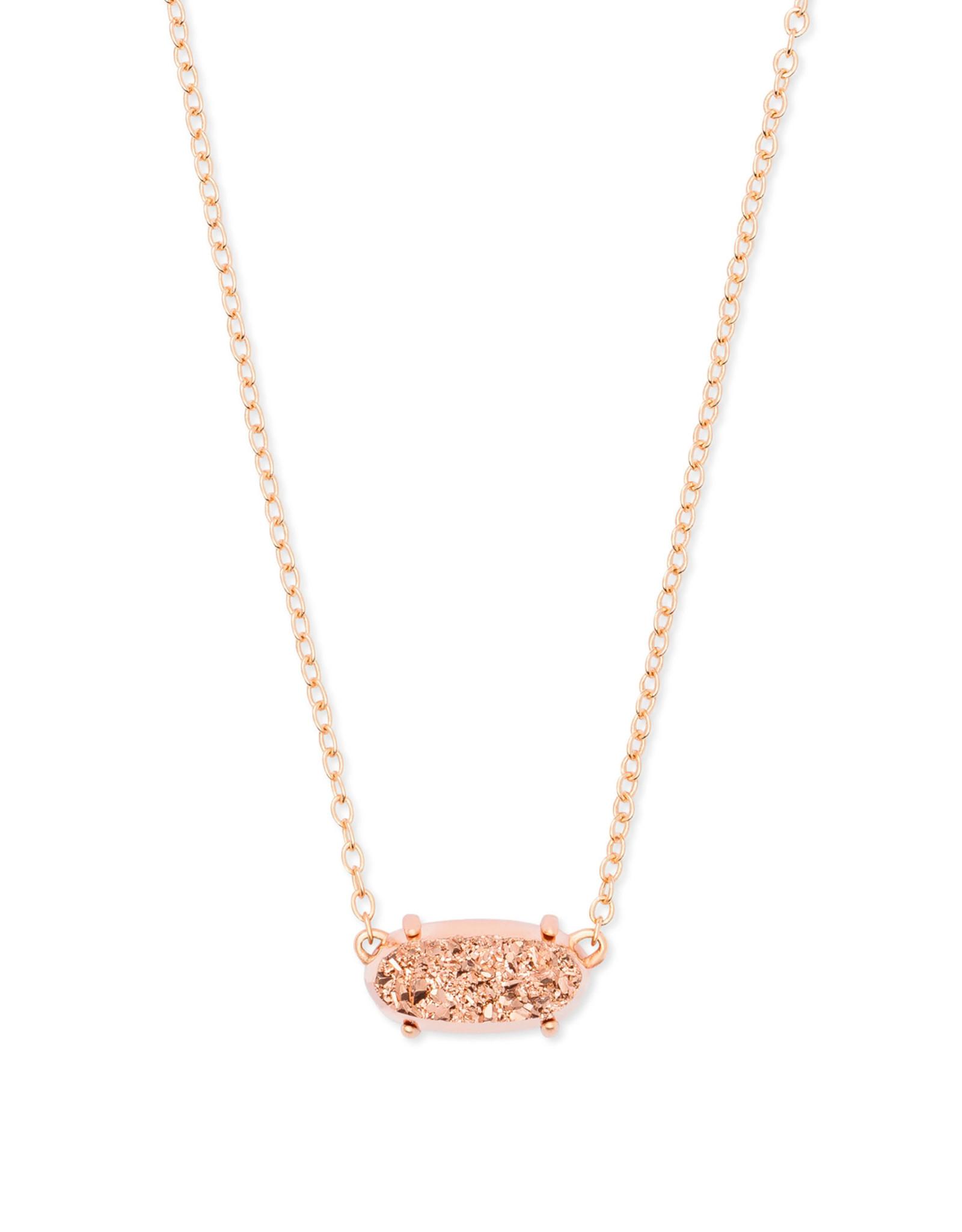 Kendra Scott Ever Necklace - Rose Gold Drusy/Rose Gold