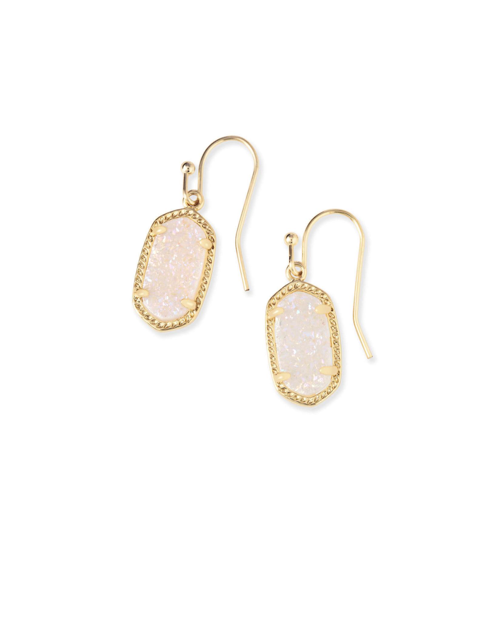 Kendra Scott Lee Earring - Iridescent Drusy/Gold
