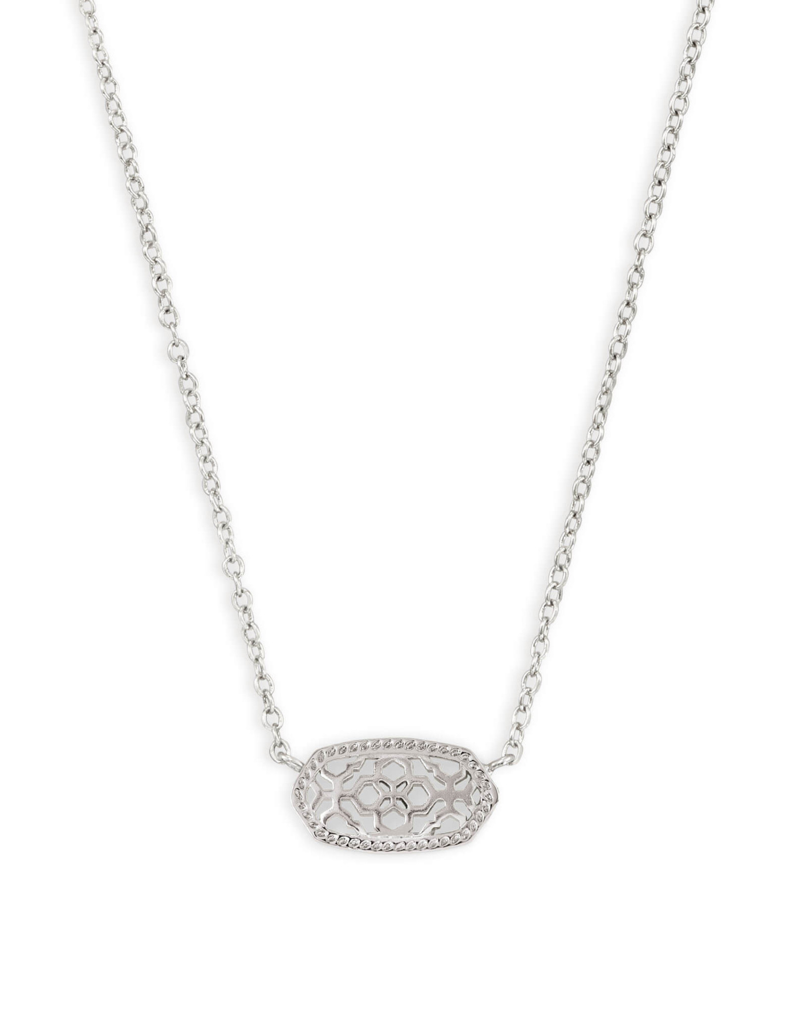 Kendra Scott Elisa Necklace - Rhodium/Rhodium