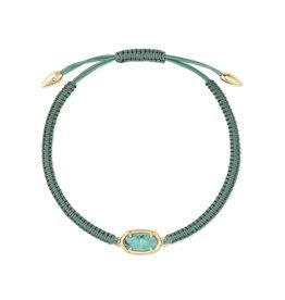 Kendra Scott Grayson Friendship Bracelet - Sea Green/Gold