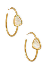 Kendra Scott Margot Hoop Earring - White Abalone/Vintage Gold