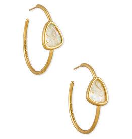 Kendra Scott Margot Hoop Earring - White Abalone/Vintage Gold