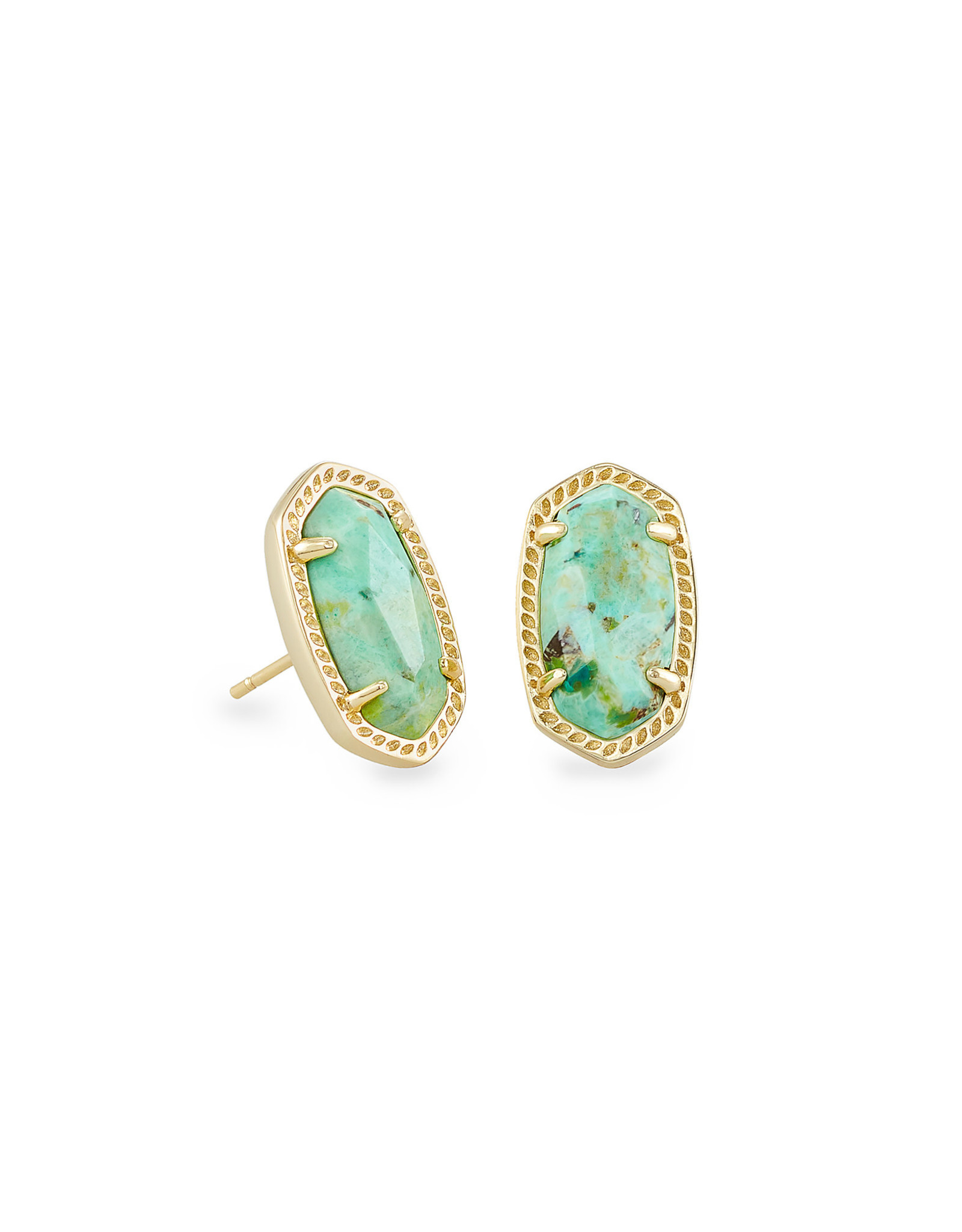 Kendra Scott Ellie Earring - Sea Green Chrysocolla/Gold