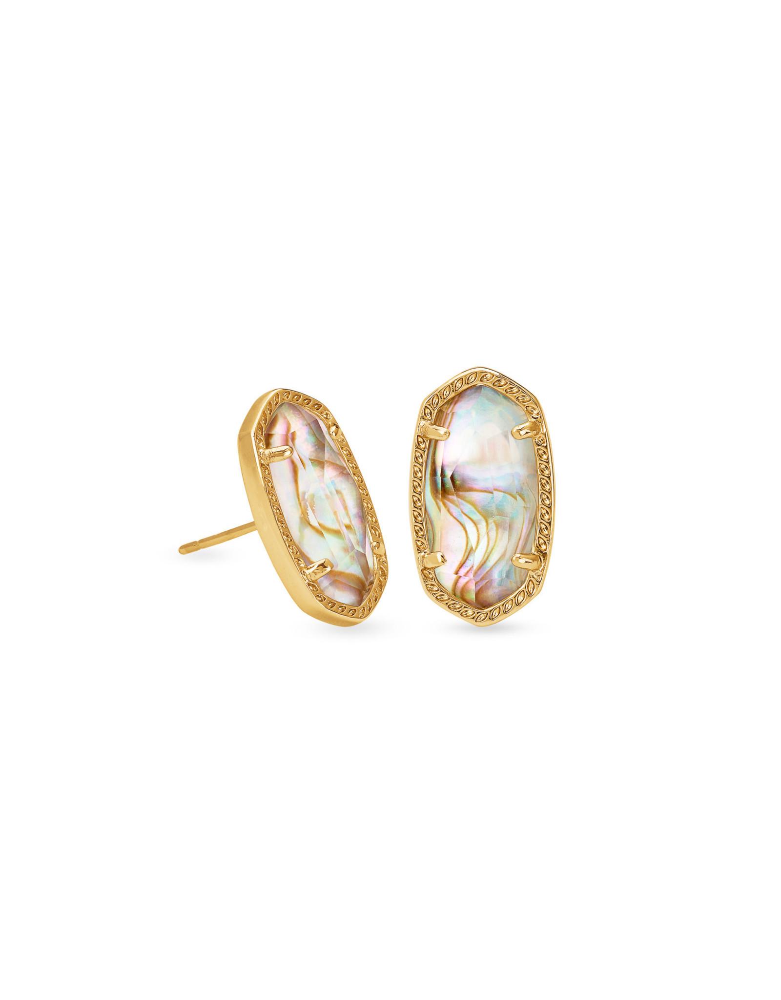 Kendra Scott Ellie Earring - White Abalone/Vintage Gold