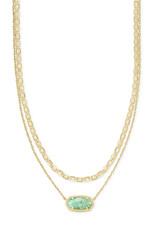 Kendra Scott Elisa Multi Strand Necklace - Sea Green Chrysocolla/Gold
