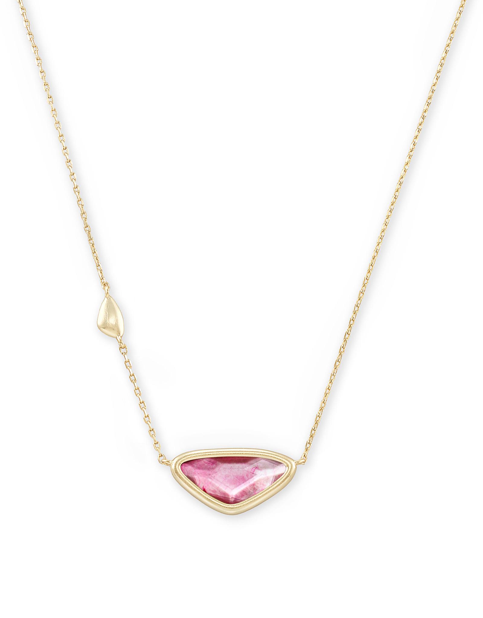 Kendra Scott Margot Short Pendant Necklace - Deep Blush MOP/Gold