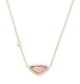 Kendra Scott Margot Short Pendant Necklace - Lilac Abalone/Gold