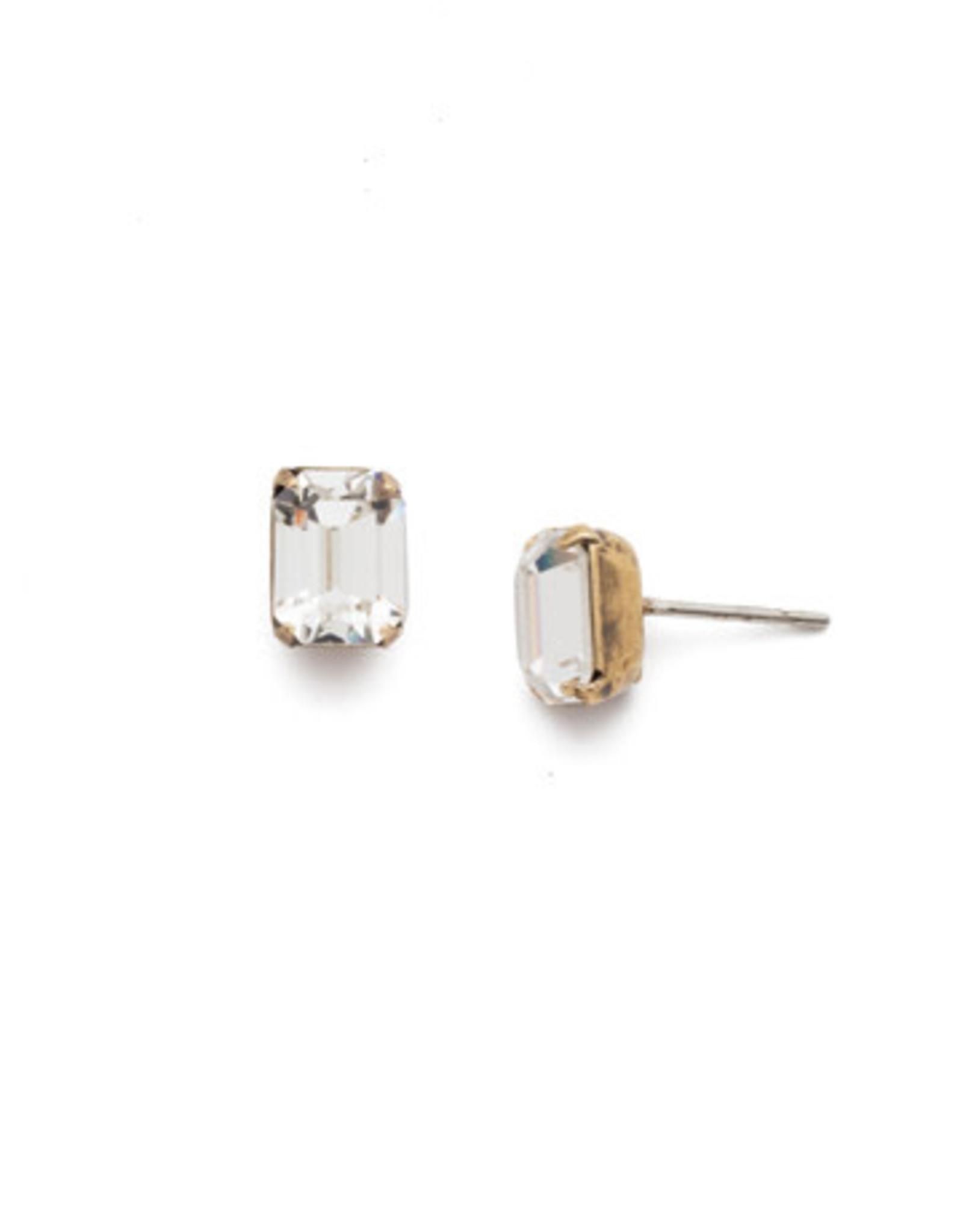 Sorrelli EBY42AGCRY - Crystal Mini Emerald Cut Stud Earring