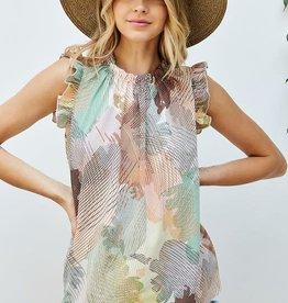 Ladies' Fashions Ruffle Sleeve Top