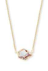 Kendra Scott Tess Necklace - Dichroic Glass/Gold