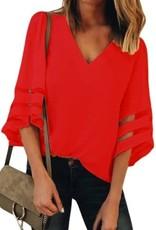 Ladies' Fashions V Neck w/Flare Sleeve