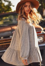 Ladies' Fashions Long Sleeve V-Neck Top