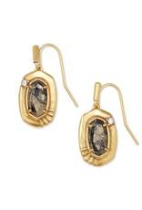 Kendra Scott Anna Small Drop Earring - Black Pyrite/Vintage Gold