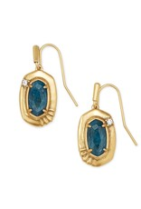 Kendra Scott Anna Small Drop Earring - Teal Apatite/Vintage Gold