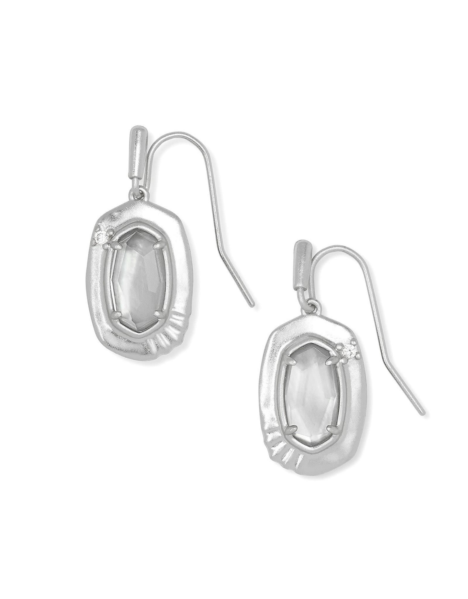 Kendra Scott Anna Small Drop Earring - Gray Illusion/Rhodium