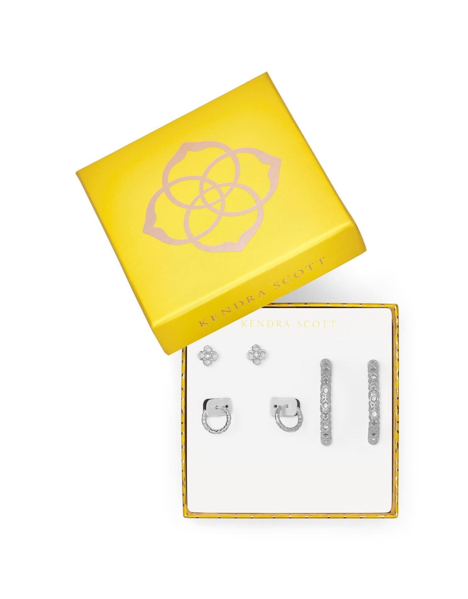Kendra Scott 4217717869 - Maggie 3pc Earring Set - Rhodium