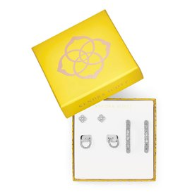 Kendra Scott 4217717869 - Maggie 3pc Earring Set - Rhodium