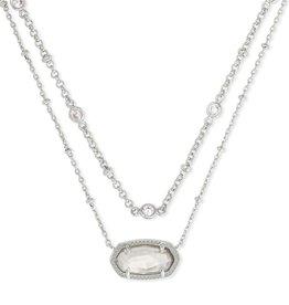 Kendra Scott Elisa Multi Strand Necklace - Rhodium Gray Illusion/Rhodium