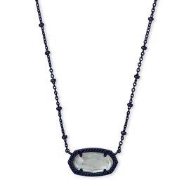 Kendra Scott Elisa Satellite Short Necklace - Gray Illusion/Gunmetal