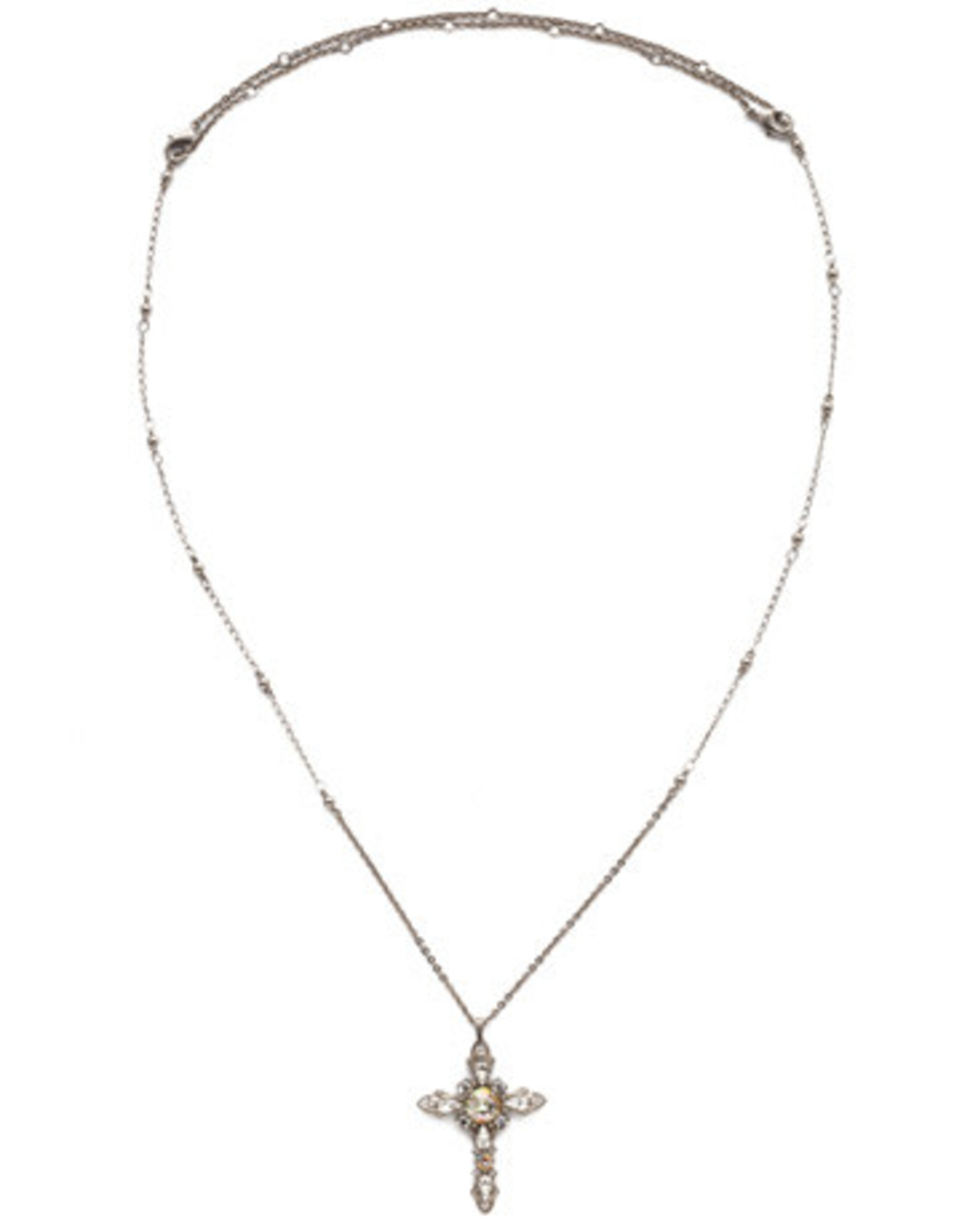 Sorrelli NDS3ASCRE - Crystal Envy Elowen Pendant Necklace
