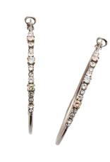 Sorrelli EDN79ASCRE - Crystal Envy Hoopla Hoop Earrings