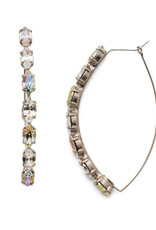 Sorrelli EEP6ASCRE - Crystal Envy Vera Hoop Earrings