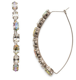 Sorrelli EEP6ASCRE - Crystal Envy Vera Hoop Earrings