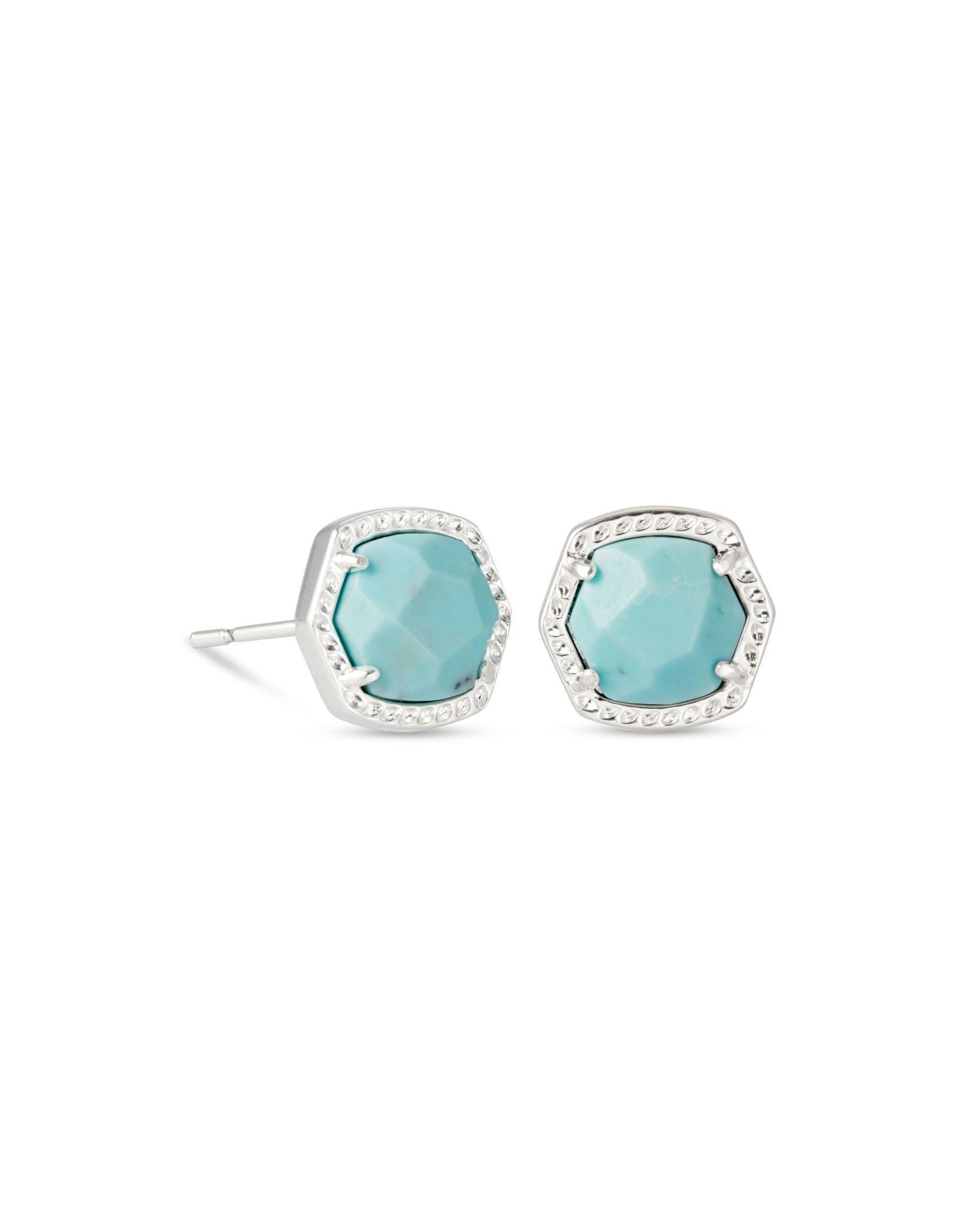 Kendra Scott Davie Stud Earring - Lt Blue Magnesite/Rhodium