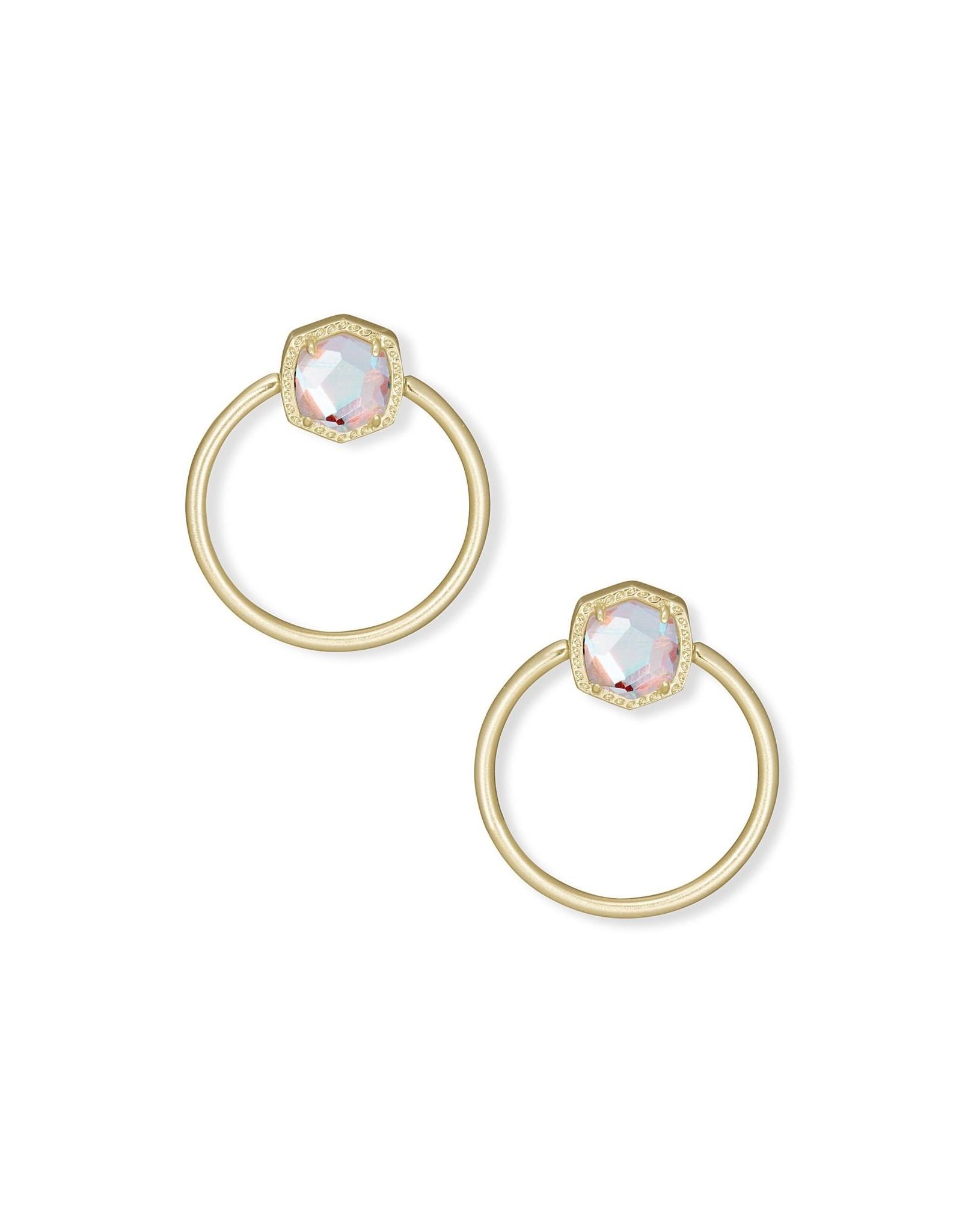Kendra Scott Davie Hoop Earring - Dichroic Glass/Gold