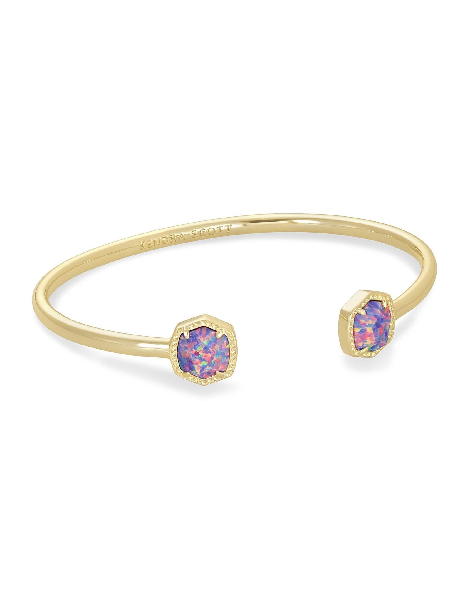 Kendra Scott Davie Cuff Bracelet - Lavender Opal/Gold