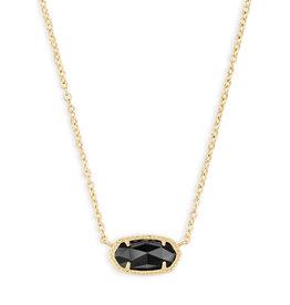 Kendra Scott Elisa Necklace - Black Opaque Glass/Gold