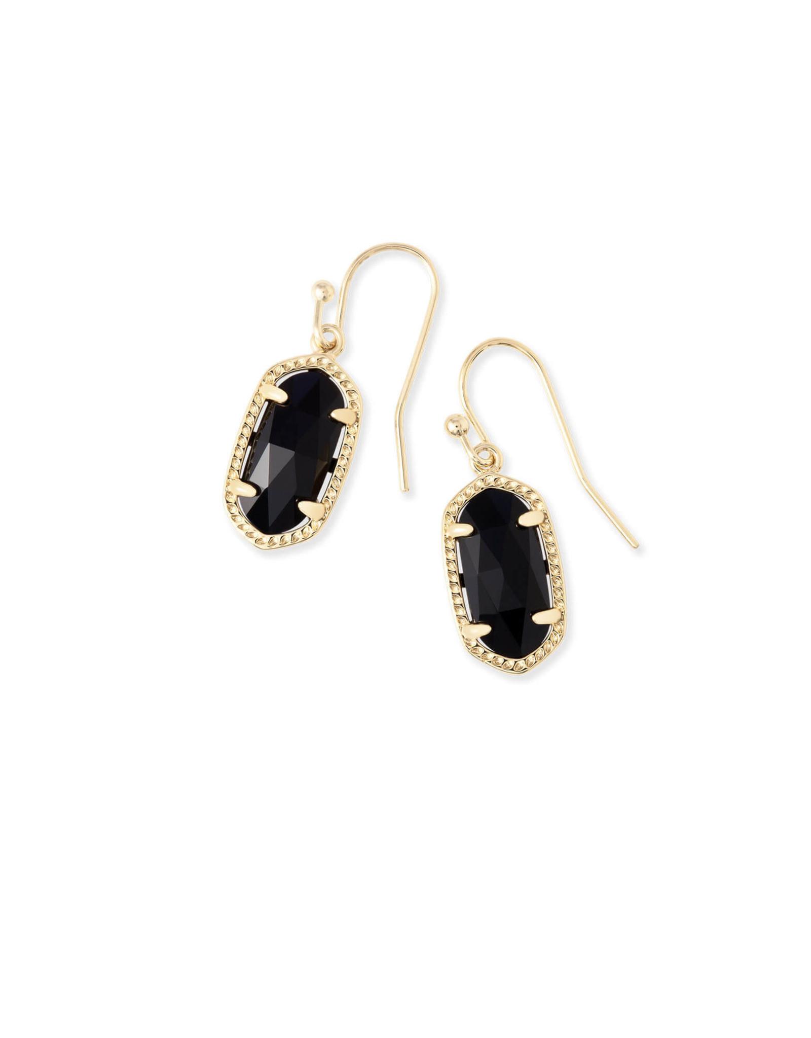 Kendra Scott Lee Earring - Black/Gold
