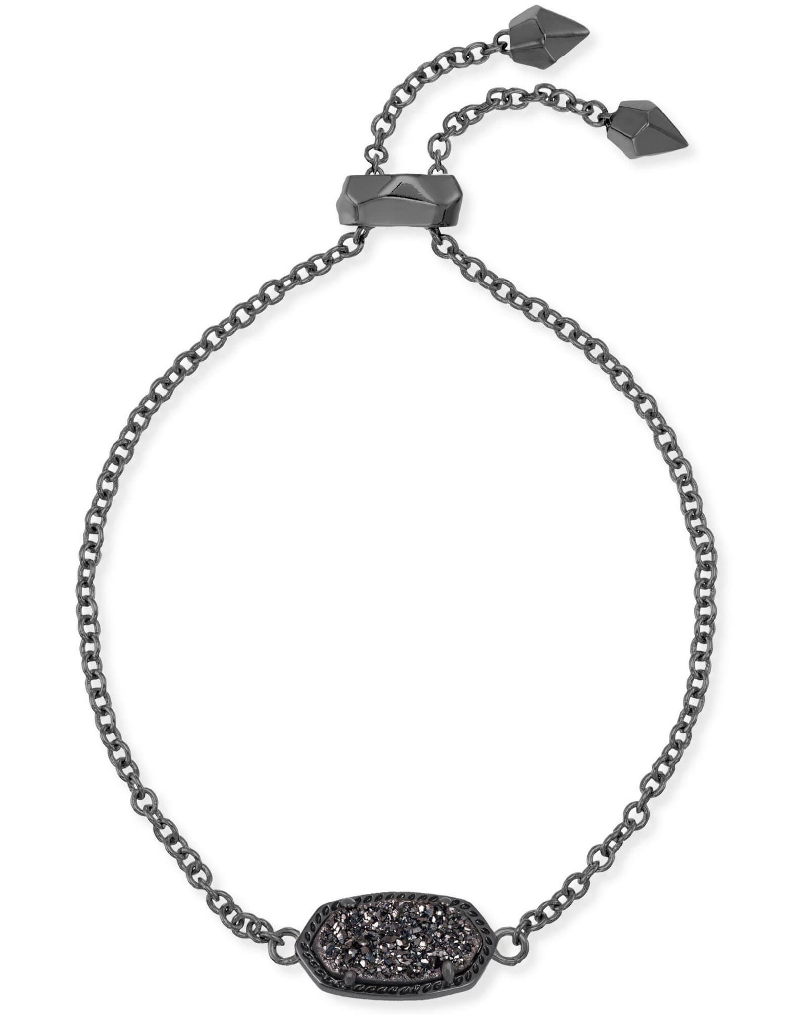 Kendra Scott Elaina Bracelet - Black Drusy/Gunmetal