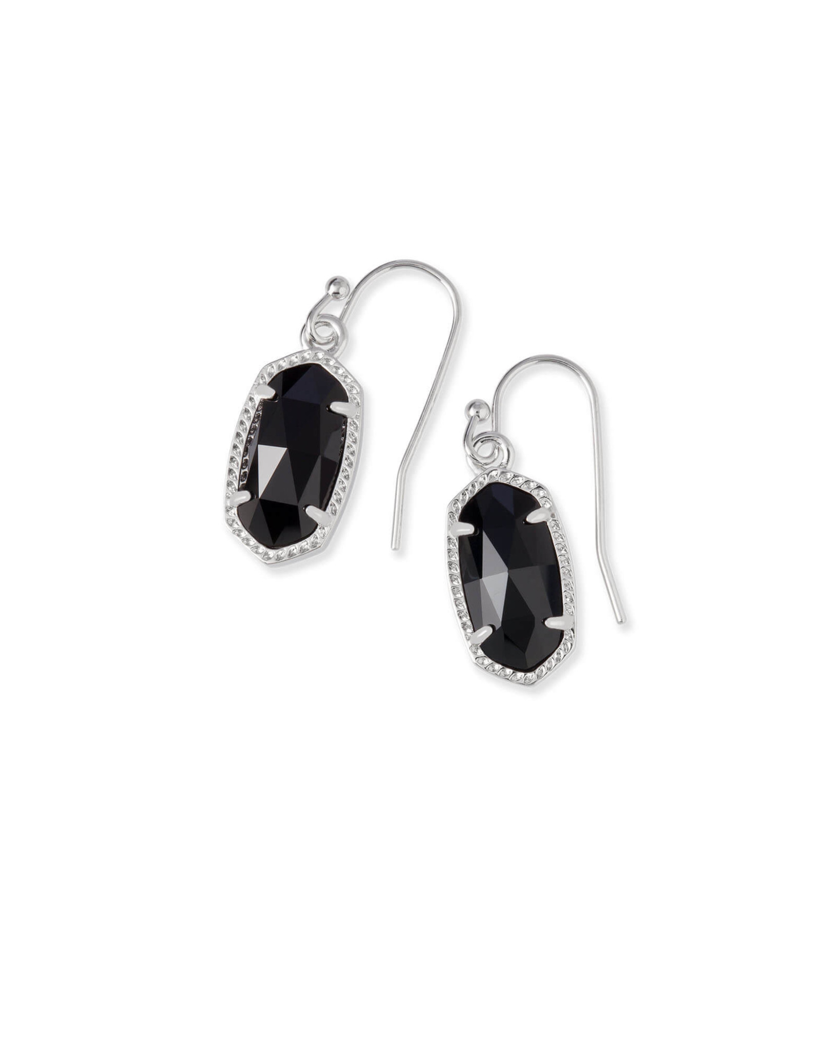Kendra Scott Lee Earring - Black/Rhodium