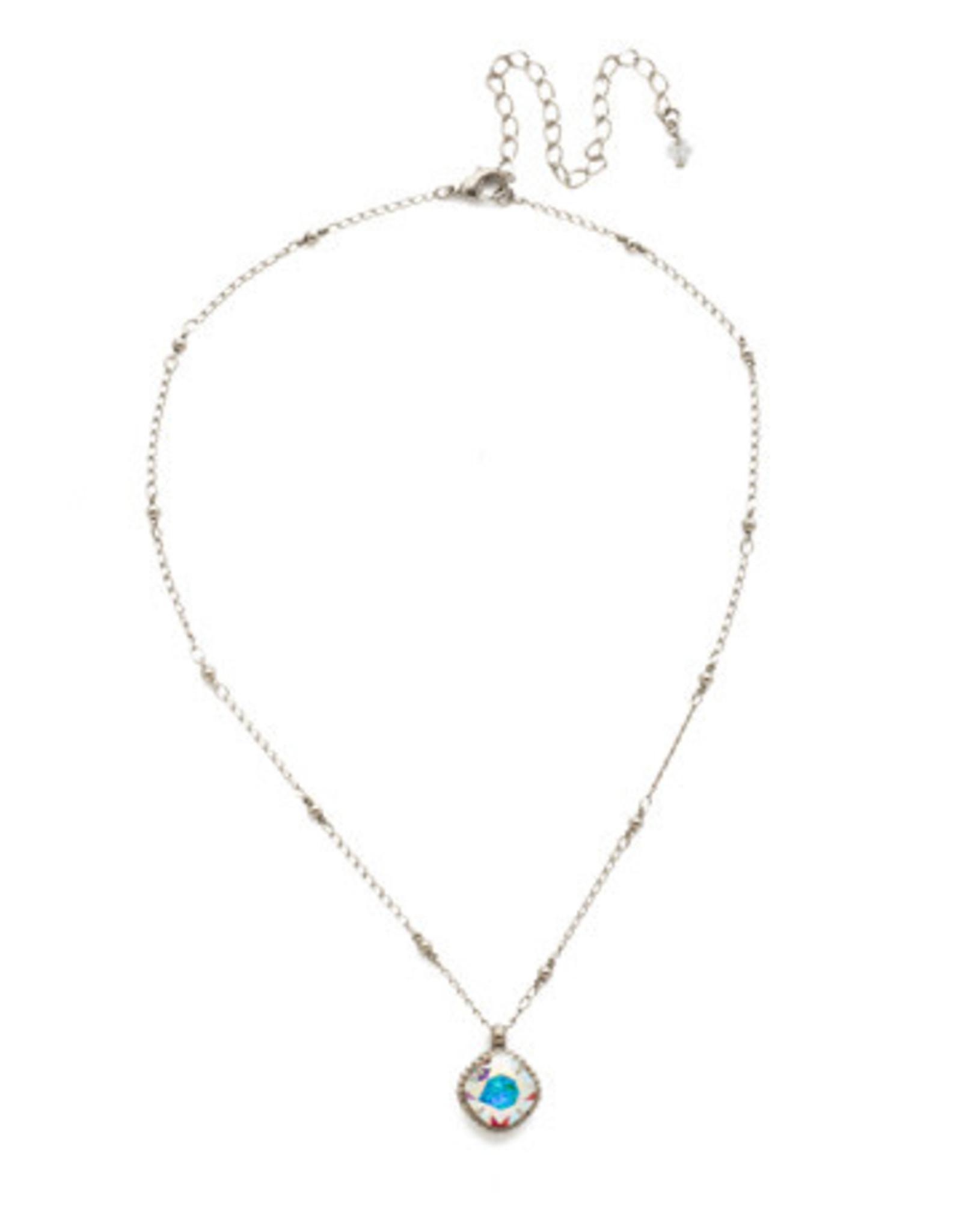 Sorrelli NDS50ASCAB - Crystal Aurora Borealis Cushion-Cut Solitaire Necklace